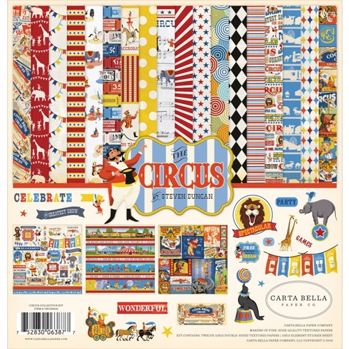 Carta Bella THE CIRCUS 12 x 12 Collection Kit cbci93016 Preview Image