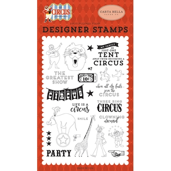 Carta Bella THE GREATEST SHOW Clear Stamp Set cbci93040