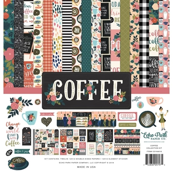 Echo Park COFFEE 12 x 12 Collection Kit co164016