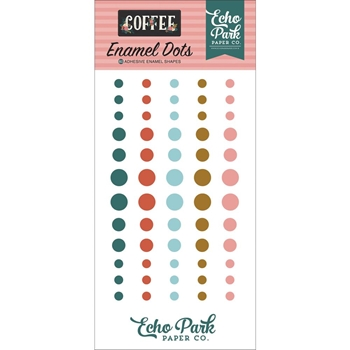 Echo Park COFFEE Enamel Dots co164028