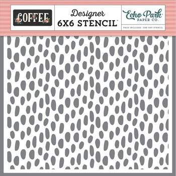 Echo Park COFFEE DOT 6 x 6 Stencil co164033
