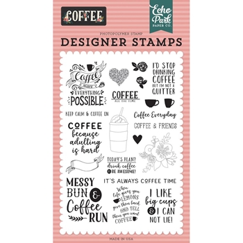 Echo Park COFFEE TIME Clear Stamps co164040