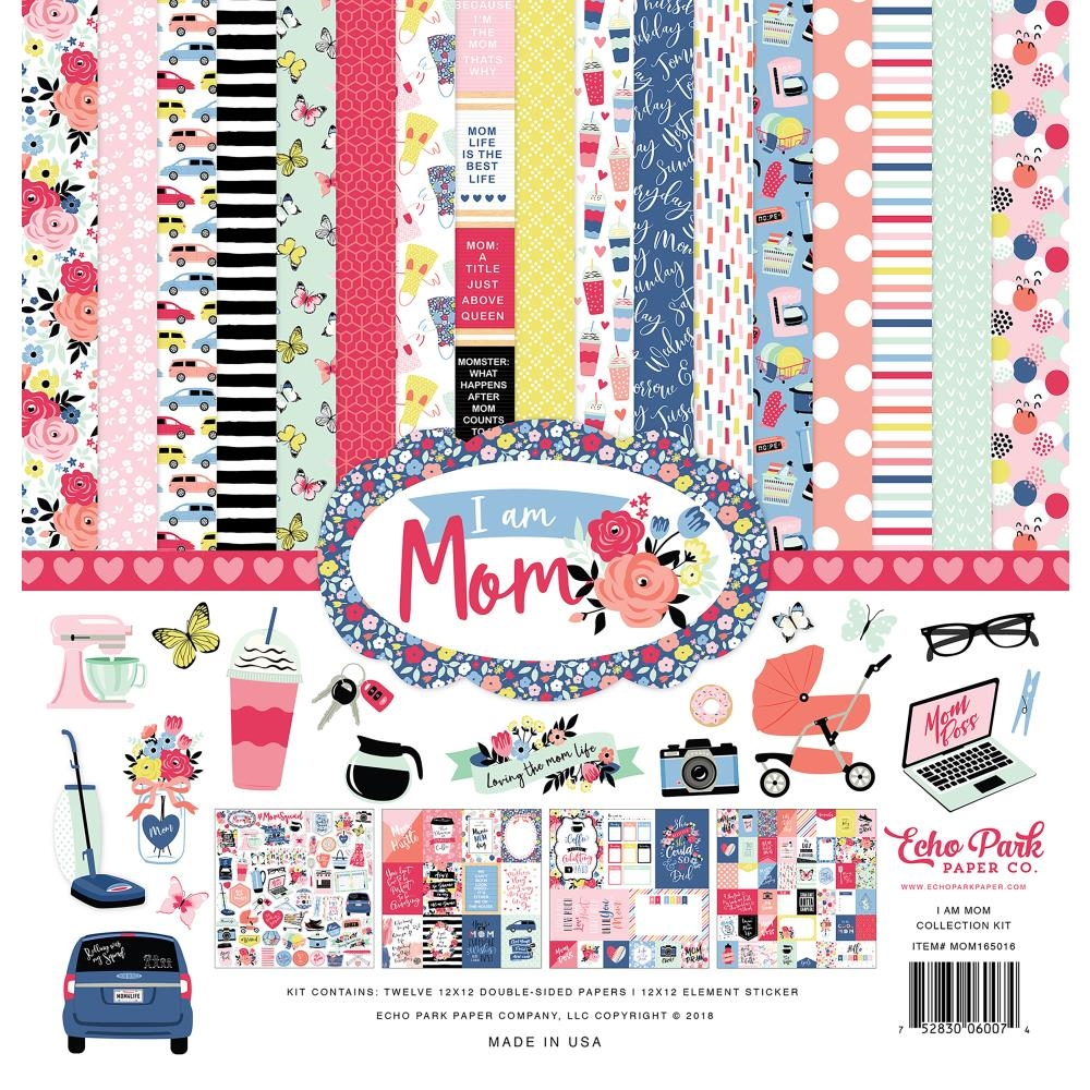 Echo Park I AM MOM 12 x 12 Collection Kit mom165016 zoom image
