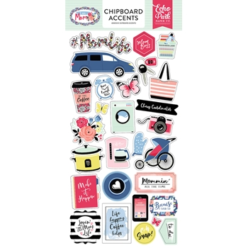 Echo Park I AM MOM Chipboard Accents mom165021