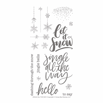 Honey Bee JINGLE ALL THE WAY Clear Stamp Set hbst-141