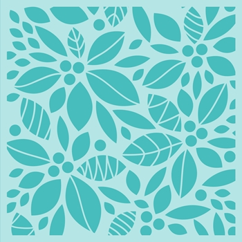 Honey Bee POINSETTIA BACKGROUND Stencil hbsl-12