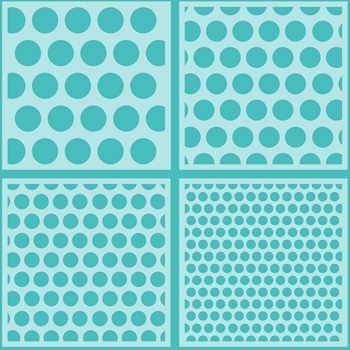 Honey Bee POLKA DOT BACKGROUND Stencils Set of 4 hbsl-10