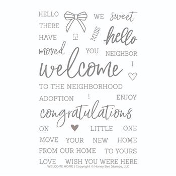 Honey Bee WELCOME HOME Clear Stamp Set hbst-147