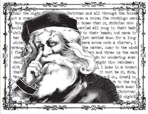 Tim Holtz Rubber Stamp STORYTIME SANTA Christmas Stampers Anonymous V4-1263