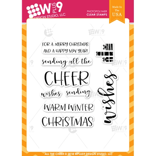 Wplus9 ALL THE CHEER Clear Stamps cl-wp9atc Preview Image