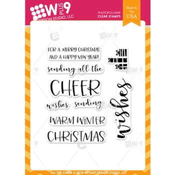 Wplus9 ALL THE CHEER Clear Stamps cl-wp9atc