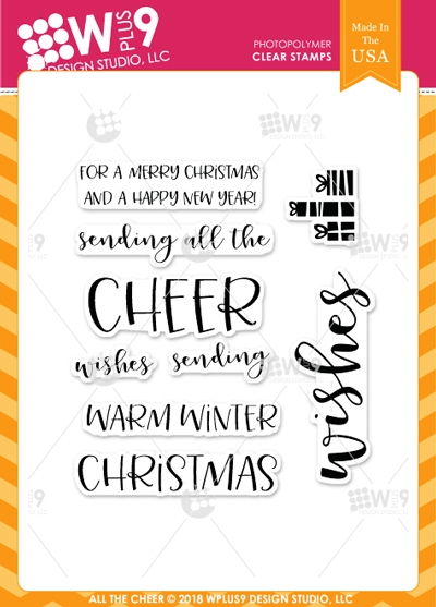 Wplus9 ALL THE CHEER Clear Stamps cl-wp9atc zoom image