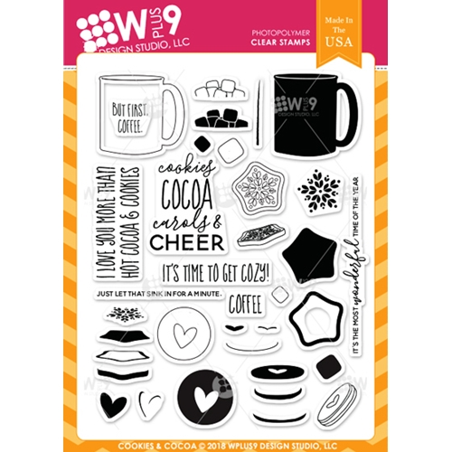 Wplus9 COOKIES & COCOA Clear Stamps cl-wp9coco Preview Image