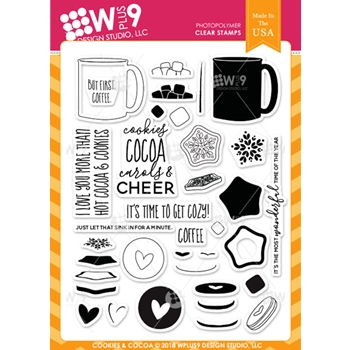 Wplus9 COOKIES & COCOA Clear Stamps cl-wp9coco
