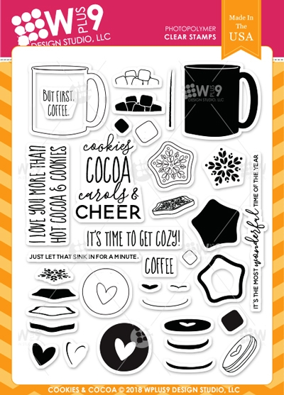Wplus9 COOKIES & COCOA Clear Stamps cl-wp9coco zoom image