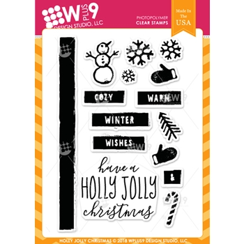 Wplus9 HOLLY JOLLY CHRISTMAS Clear Stamps cl-wp9hjc