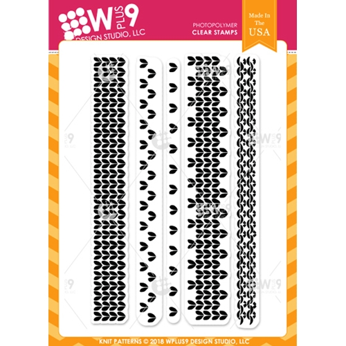 Wplus9 KNIT PATTERNS Clear Stamps cl-wp9kp Preview Image
