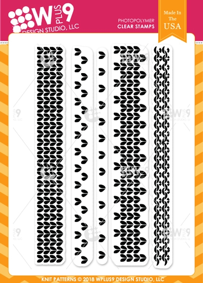 Wplus9 KNIT PATTERNS Clear Stamps cl-wp9kp zoom image