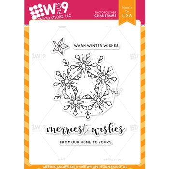 Wplus9 MERRIEST SNOWFLAKE Clear Stamps cl-wp9msn