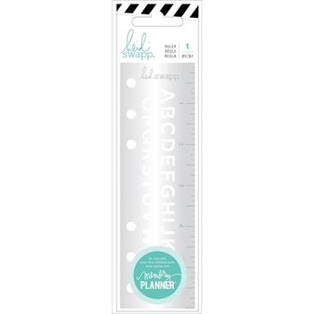 Heidi Swapp COLOR FRESH Alphabet Ruler 314401