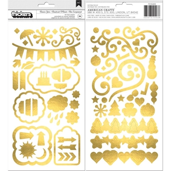 BoBunny BANNER YEAR Thickers Stickers 7310403