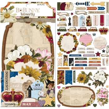 BoBunny BANNER YEAR Die Cuts Noteworthy 7310401