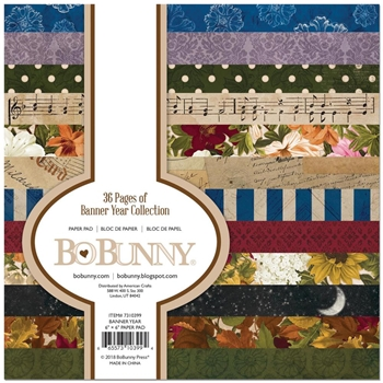 BoBunny 6 x 6 BANNER YEAR Paper Pad 7310399
