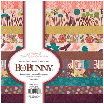 BoBunny 6 x 6 FLORAL SPICE Paper Pad 7310363