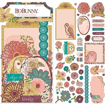 BoBunny FLORAL SPICE Die Cuts Noteworthy 7310366