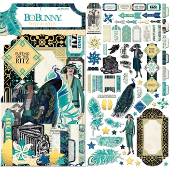 BoBunny SOMETHING SPLENDID Die Cuts Noteworthy 7310384