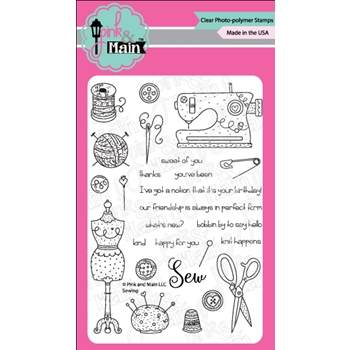 Pink and Main SEWING Clear Stamps PM0306