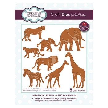 Creative Expressions AFRICAN ANIMALS Sue Wilson Safari Collection Dies ced1310