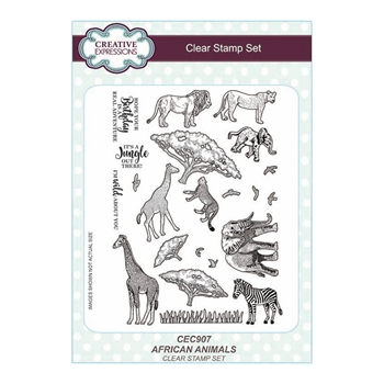 Creative Expressions Clear AFRICAN ANIMALS Clear Stamps cec907
