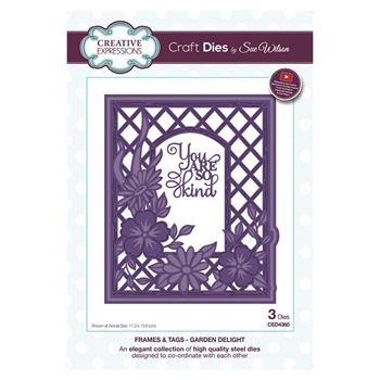 Creative Expressions GARDEN DELIGHT Sue Wilson Frames and Tags Collection Die Set ced4360
