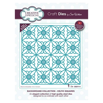 Creative Expressions CELTIC SQUARES Sue Wilson Background Collection ced7111