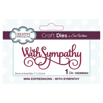 Creative Expressions WITH SYMPATHY Sue Wilson Mini Expressions Die Set cedme024