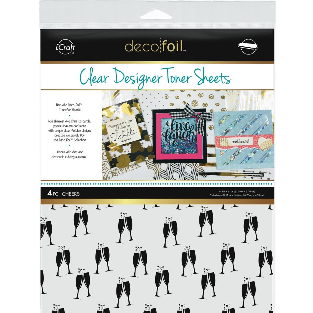 Therm O Web CHEERS Clear Designer Toner Sheets Deco Foil 5531 zoom image