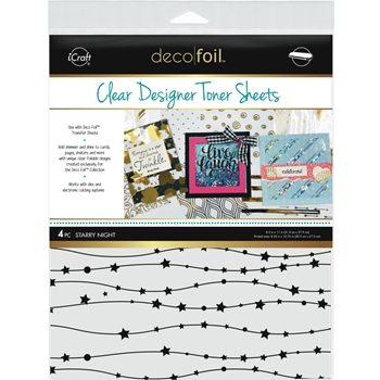 Therm O Web STARRY NIGHT Clear Designer Toner Sheets Deco Foil 5532