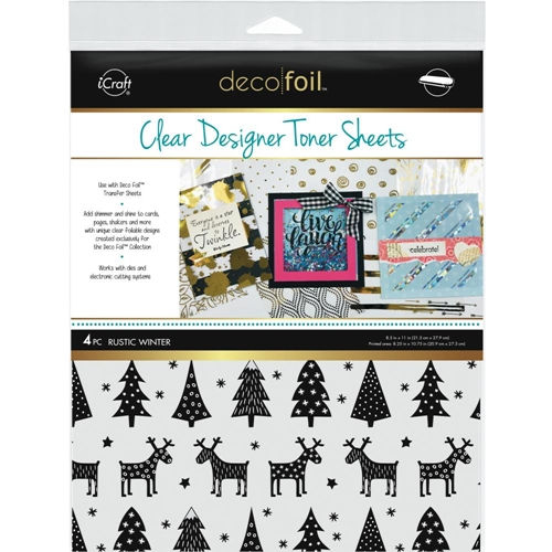 Therm O Web RUSTIC WINTER Clear Designer Toner Sheets Deco Foil 5529 Preview Image