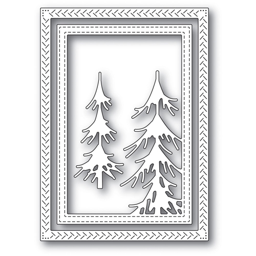Memory Box PINE FOREST FRAME Craft Die 94036 Preview Image