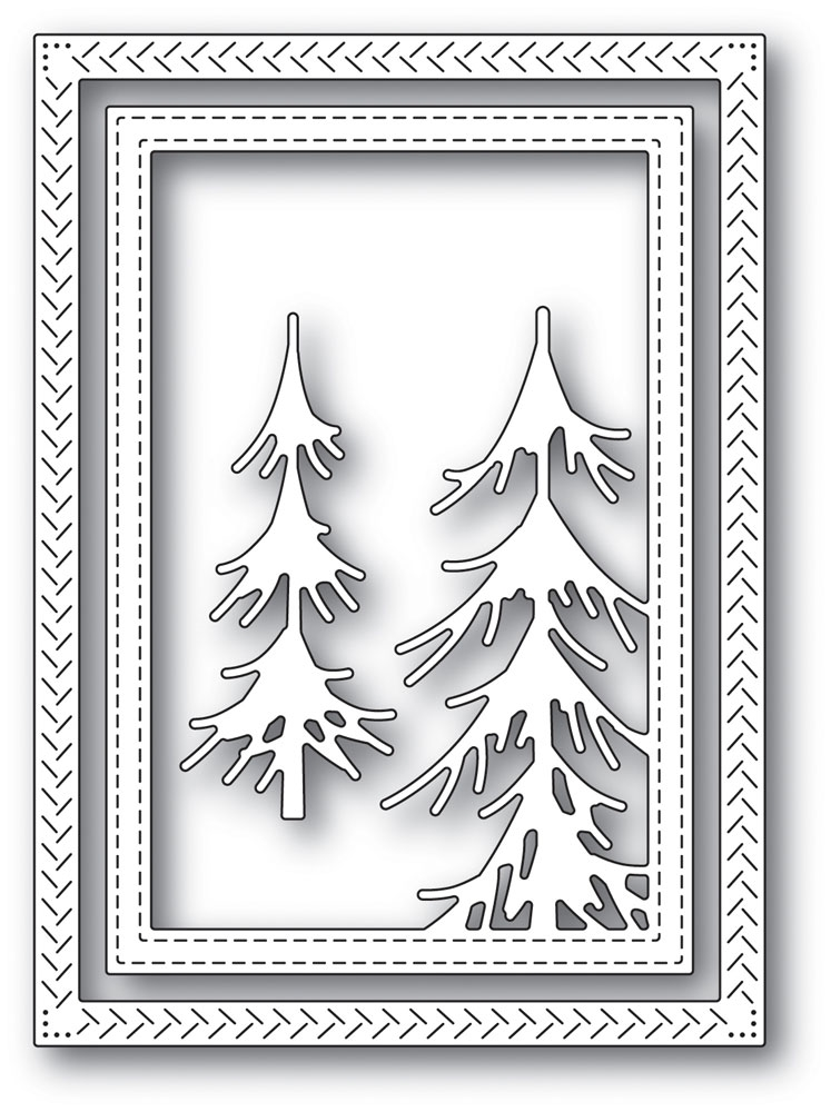 Memory Box PINE FOREST FRAME Craft Die 94036 zoom image