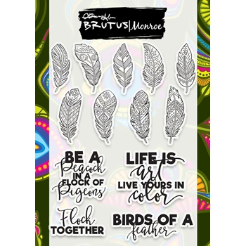 Brutus Monroe Clear Stamps FEATHERED SENTIMENTS Birds of A Feather bru8333