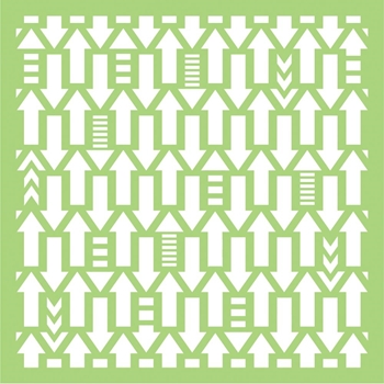 Kaisercraft ARROWS 6x6 Inch Designer Stencil Template IT479