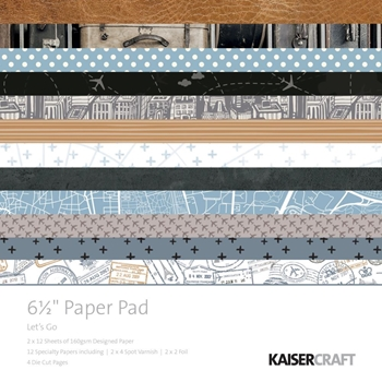 Kaisercraft LET'S GO 6.5 Inch Paper Pad PP1056