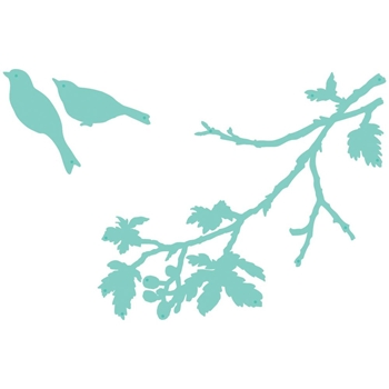 Kaisercraft TWO BIRDS BRANCH Decorative DIY Dies DD621