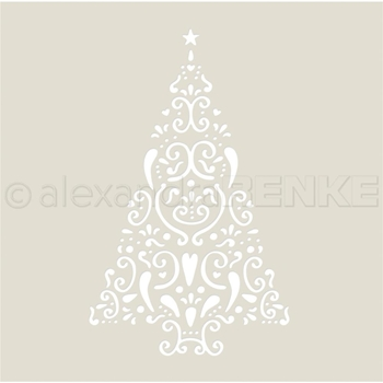 Alexandra Renke FIR TREE ORNAMENT Stencil starw0017