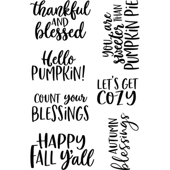 Jane's Doodles HELLO FALL Clear Stamp Set 743450