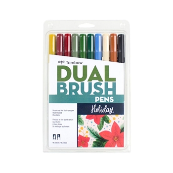 Tombow HOLIDAY Dual Brush Pens Limited Edition 56195