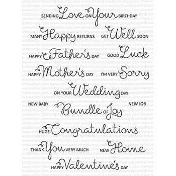 Clearly Besotted SCRUMPTIOUS OCCASIONS Clear Stamps