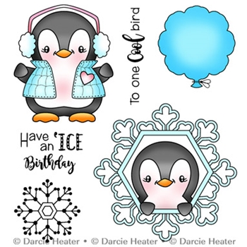 Darcie's COOL BIRD Clear Stamp Set pol412